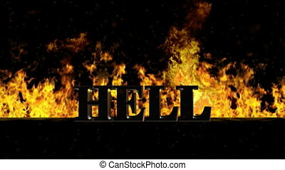 Hell Burning Hot Word in Fire