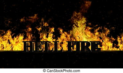 Hell Fire Burning Hot Word in Fire