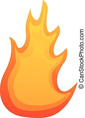 Hell flame icon, cartoon style