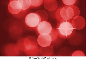 hell gefärbt, weihnachtsbeleuchtung, auf, a, weihnachten,...