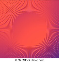 hell, glänzend, hintergrund, mit, funkeln, form., strahlig, linien, starburst, sunburst, kreisförmig, linien