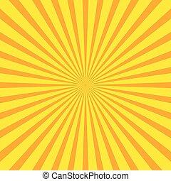 hell, starburst, (sunburst), hintergrund, mit, regelmäßig, ausstrahlen zeilen, streifen