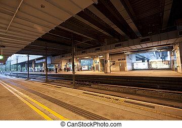 helle schiene, station, in, hongkong