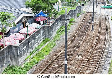 helle schiene, transport, in, hongkong