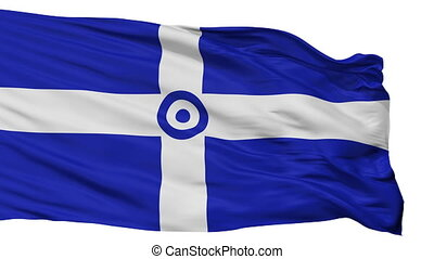 Hellenic Air Force 1973 1978 Flag Isolated Seamless Loop -...