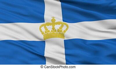 Hellenic Kingdom 1935 Flag Closeup Seamless Loop - Hellenic...