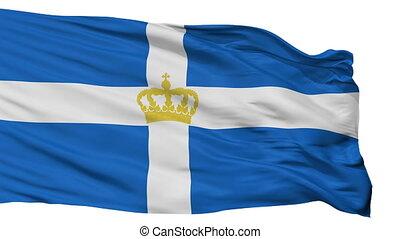 Hellenic Kingdom 1935 Flag Isolated Seamless Loop - Hellenic...