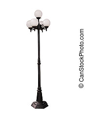 heller pole, lampe, straße, hintergrund, pfahl, weißes, straße