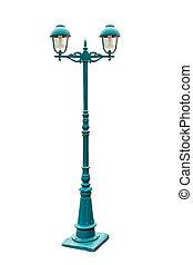heller pole, lampe, straße, pfahl, straße