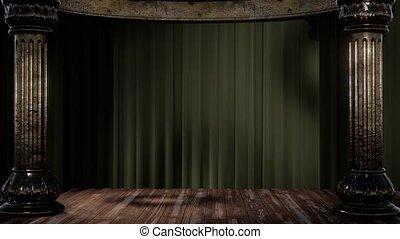heller schatten, theatervorhang