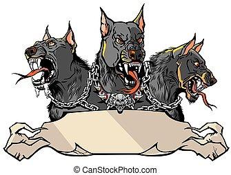 hellhound, テンプレート, デザイン, cerberus