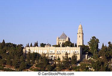 hellige, kirke, ind, jerusalem