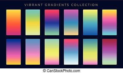 helling, abstract, set, kleurrijke, achtergrond