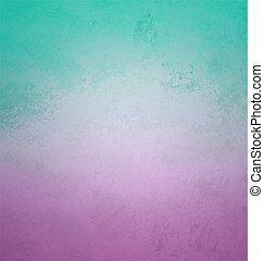 helling, retro stijl, papier, cyan, en, viooltje, kleuren