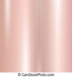 helling, roze, metaal, goud