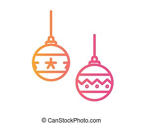 helling, roze, om te, sinaasappel, kerstmis bal, deocoration, pictogram