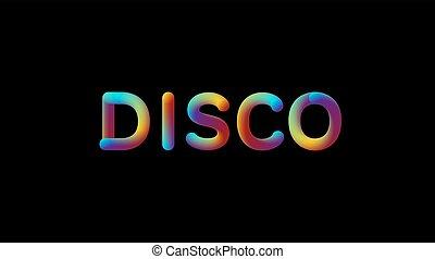 helling, teken., 3d, iridescent, disco
