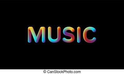 helling, teken., muziek, iridescent, 3d