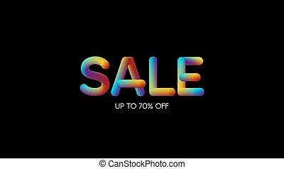 helling, teken., verkoop, iridescent, 3d