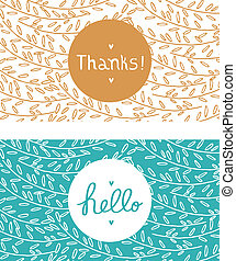 Hello and thanks cards