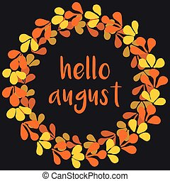 Hello august vector wreath