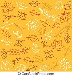 Hello Autumn. Autumn leaves background.