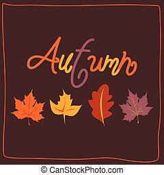 Hello Autumn. Autumn leaves background