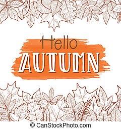 Hello autumn border