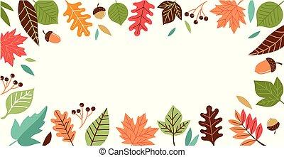 Hello Autumn, fall season background, banner