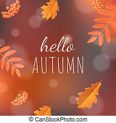 Hello Autumn Poster