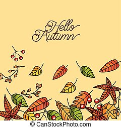 hello autumn season greeting card