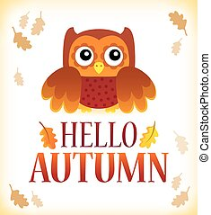Hello autumn theme image 1