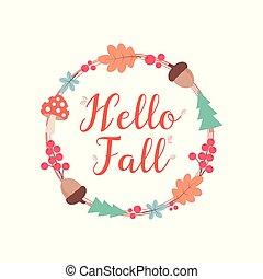 hello autumn wreath