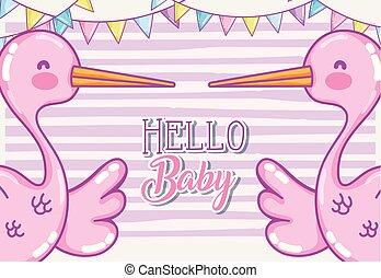Hello baby shower card