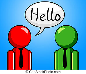 Hello Conversation Means How Are You And Consultation