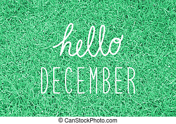 Hello December greeting for decoration.