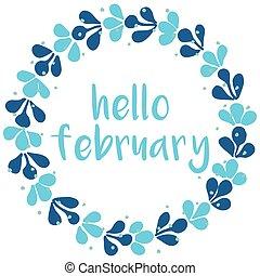 Hello february winter wreath