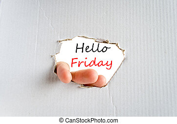 Hello friday text concept isolated over white background