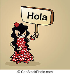 Hello from Spain people design - Trendy spanish woman says...