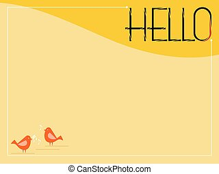 Hello Greeting Card Vector Art