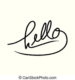 Hello hand drawn lettering