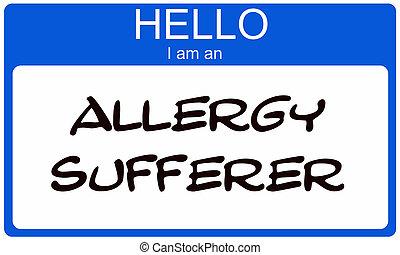 Hello I am an Allergy Sufferer