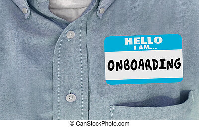 Hello I Am Onboarding New Employee Nametag 3d Render ...