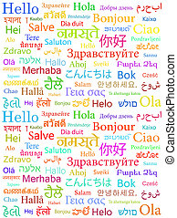 "Hello in different languages - ""Hello"" in different..."