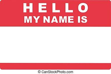 Leer Aufkleber Etikett Hallo Name Abbildung 10 Vektor
