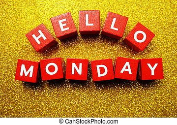 Hello Monday alphabet letter