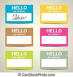 Hello My Name Is... Name Tag Set.