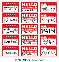 Hello My Name is Nametags - An assortment of Hello my name...