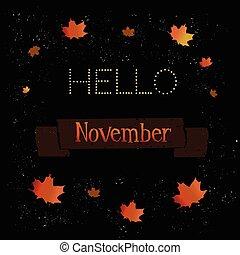 november - hello november lettering