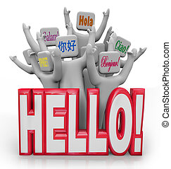 Hello People Greeting in Different International Languages